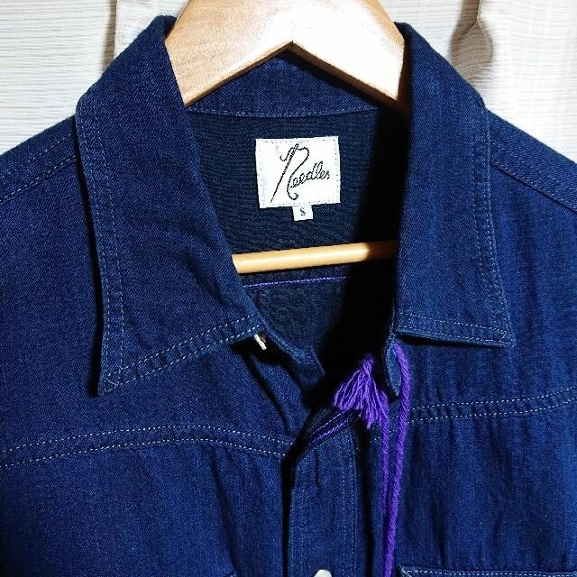 Needles(ニードルス)のタグ付き未使用❇️Needles インディゴ ウエスタンシャツ メンズのトップス(シャツ)の商品写真