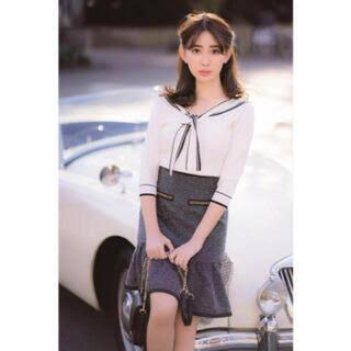 リランドチュール(Rirandture)の美品 リランドチュール ツイードスカート(ひざ丈スカート)