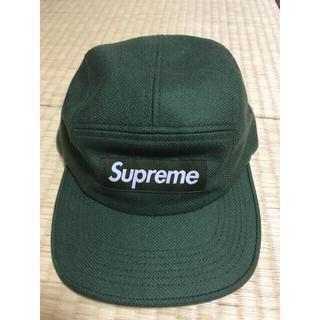 Supreme - supreme キャップ グリーン