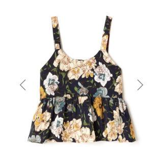 グレイル(GRL)のGRL バックリボン花柄ビスチェ トップス 韓国ファッション フラワー 春 夏(キャミソール)