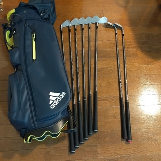MIZUNO - ミズノ MP69 6本セット、Adidasゴルフバック、おまけのクラブ
