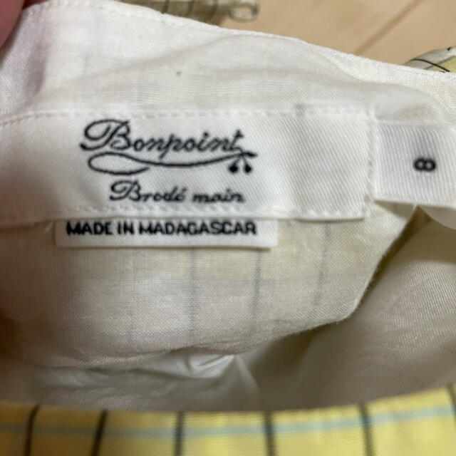 Bonpoint(ボンポワン)のbonpoint ワンピース チェックデュセス 8a キッズ/ベビー/マタニティのキッズ服女の子用(90cm~)(ワンピース)の商品写真