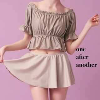 one after another NICE CLAUP - 新品 one after another スカート付スイムウェア