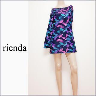 rienda - rienda フェザー柄 ワンピース*リップサービス リゼクシー MURUA