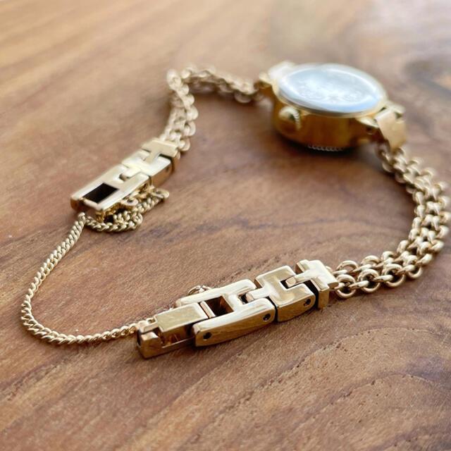 agete(アガット)のアガット  agete ラウンドフェイス ゴールド 時計 チェーンブレス レディースのファッション小物(腕時計)の商品写真