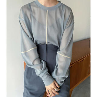 STUDIOUS - 【新品】clane SOLID SLEEVE SHEER  L/S TOPS