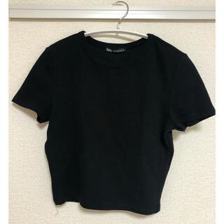 ZARA - ZARA クロップド丈Tシャツ