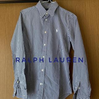 ラルフローレン(Ralph Lauren)のラルフローレンシャツレディースストライプ美品ゴルフ古着オフィスカジュアル上品(シャツ/ブラウス(長袖/七分))