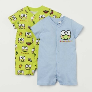 H&M - H&M 80㎝ けろけろけろっぴ プリントロンパース 2枚セット