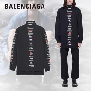 Balenciaga - BALENCIAGA ロンT マルチロゴ ハイネック