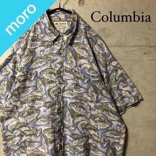 コロンビア(Columbia)のColumbia コロンビア 総柄シャツ 魚柄 アロハシャツ オーバーサイズ(シャツ)