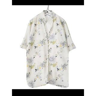 mame - mame kurogouchi フラワープリントシャツ