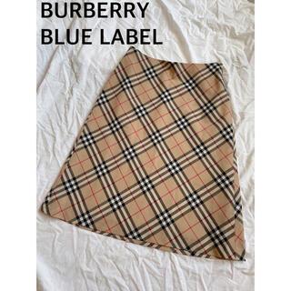 バーバリーブルーレーベル(BURBERRY BLUE LABEL)の美品 バーバリー ノバチェック 膝丈スカート M(ひざ丈スカート)