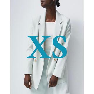エイチアンドエム(H&M)のラクマ便★H&M ダブルブレストジャケット きれいめ オフィス ミントグリーン(テーラードジャケット)