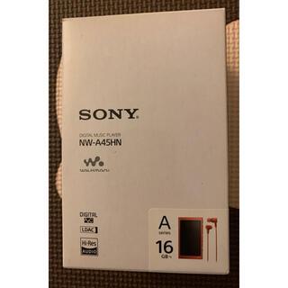 ソニー(SONY)のSONY ウォークマン Aシリーズ NW-A45HN(R)(ポータブルプレーヤー)