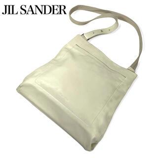Jil Sander - ジルサンダー★JIL SANDER★レザーショルダーバッグ イタリア製 ホワイト