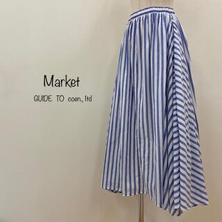 coen - Market  GUIDE TO coen.,1td ストライプ ロングスカート