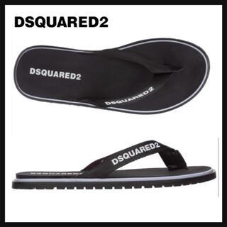ディースクエアード(DSQUARED2)のDSQUARED2 ラバーフリップフロップ サンダル ブラック 42(サンダル)