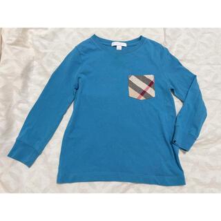 バーバリー(BURBERRY)のバーバリー ロンT ノバチェック 100 ブルー(Tシャツ/カットソー)