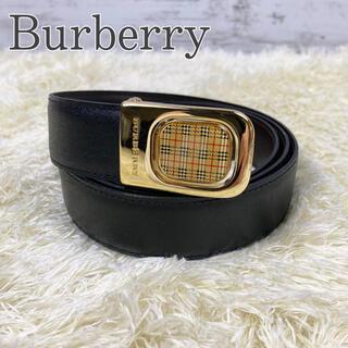 バーバリー(BURBERRY)のBurberry ベルト ノバチェック メンズ ゴールド ブラック(ベルト)