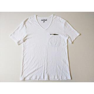 ワイルドシングス(WILDTHINGS)の美品 narifuri ナリフリ VネックポケットTシャツ M カットソー (Tシャツ/カットソー(半袖/袖なし))