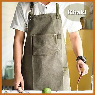 エプロン おしゃれ 大人新品 カフェ キッチン サロン 作業エプロン ポケット(その他)