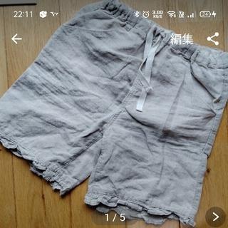 ムジルシリョウヒン(MUJI (無印良品))の無印良品 100 麻ハーフパンツ(パンツ/スパッツ)