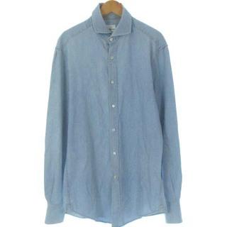 ブルネロクチネリ(BRUNELLO CUCINELLI)のブルネロクチネリ デニム シャツ イタリアンカラー 長袖 インディゴ 青 XS(シャツ)