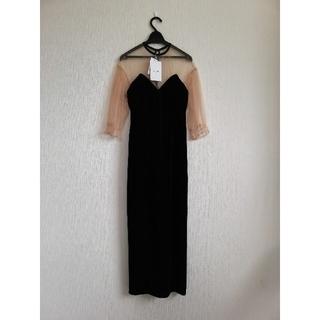 Ameri VINTAGE - AMERI VINTAGE  TULLE SLEEVE TIGHT DRESS