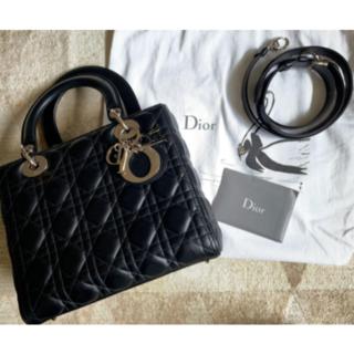 Christian Dior - DIOR レディディオール 黒 ラムスキン