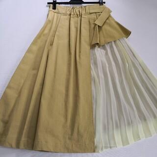 マーキュリーデュオ(MERCURYDUO)の新品 マーキュリーデュオ からし色スカート(ひざ丈スカート)