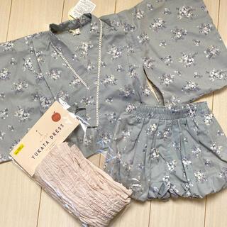 シマムラ(しまむら)のテータテート 100 浴衣ドレス ブルー(甚平/浴衣)