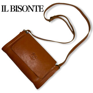 IL BISONTE - IL BISONTE★イルビゾンテ★レザーショルダーバッグ イタリア製 ブラウン