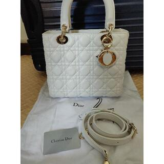 Christian Dior - Dior レディディオール 白 ホワイト ハンドバッグ ショルダーバッグ