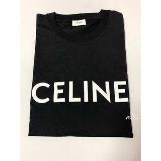 セリーヌ(celine)の新品【 CELINE 】ルーズフィット ロゴ プリント Tシャツ L ブラック(Tシャツ/カットソー(半袖/袖なし))