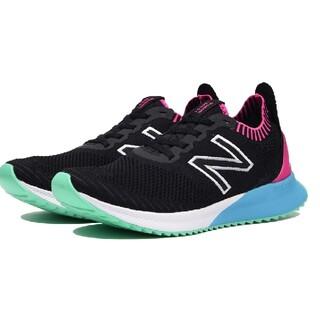 New Balance - 新品 ニューバランス ブラック 厚底 スニーカー ランニングシューズ 24.5
