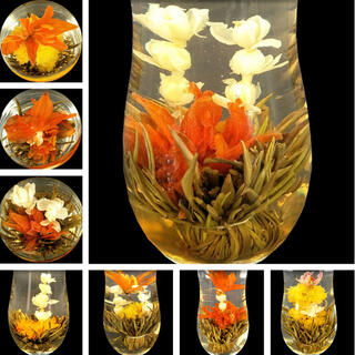 工芸茶10個入り 手作りお茶 緑茶 ハーブティー 花茶 美容茶 ジャスミン茶(健康茶)