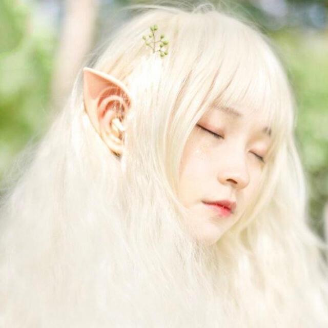 付け耳 つけ耳 エルフ 妖精  天使 仮装 ハロウィン コスプレ エンタメ/ホビーのコスプレ(小道具)の商品写真