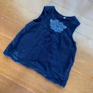 ムジルシリョウヒン(MUJI (無印良品))の無印良品 ガーゼ ノースリーブチュニック(Tシャツ/カットソー)