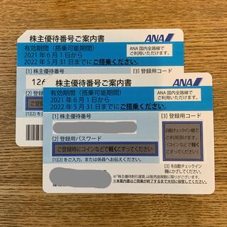 ANA 株主優待件2枚(航空券)