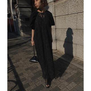 Ameri VINTAGE - AMERI 2WAY CIRCLE PATTERN LACE DRESS 黒