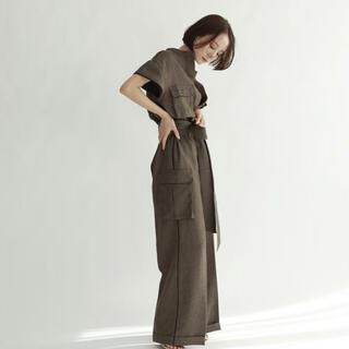 トゥデイフル(TODAYFUL)のlouren summer tweed jumpsuits S ブラウン 新品(オールインワン)