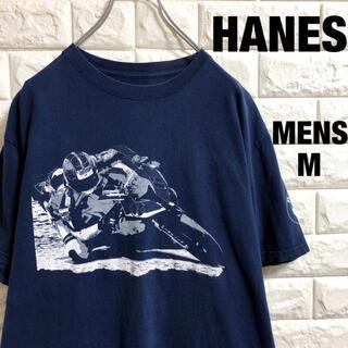 ヘインズ(Hanes)のアメリカ古着 ヘインズ  BMW バイク プリント Tシャツ メンズMサイズ(Tシャツ/カットソー(半袖/袖なし))