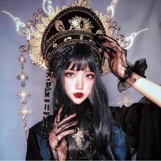 アリスアンドザパイレーツ(ALICE and the PIRATES)の黒き教会の気高き女教皇のヘッドドレス【2057】(その他)