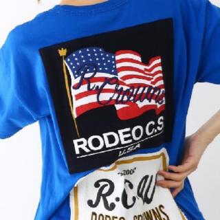 ロデオクラウンズワイドボウル(RODEO CROWNS WIDE BOWL)のロデオクラウンズ メニータグTシャツ(Tシャツ/カットソー)