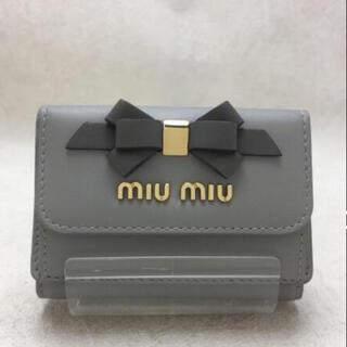 ミュウミュウ(miumiu)のミュウミュウ      リボン三つ折り財布♡(財布)