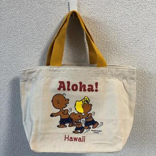 PEANUTS - ハワイ限定 日焼けスヌーピー トートバッグ ランチバッグ
