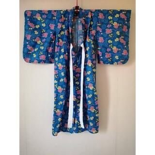 女の子 浴衣 120 金魚 青 水色