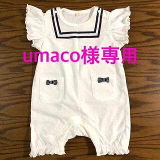 西松屋 - 【新品、未使用】女の子 ロンパース 半袖 80cm