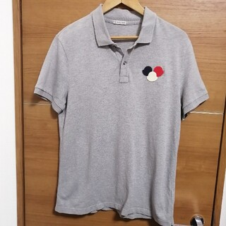 モンクレール(MONCLER)のMONCLER モンクレール 半袖 ロゴ ワッペン トリコ ポロシャツ(ポロシャツ)